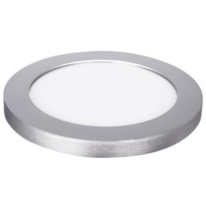 Feit Electric 11 in. 25W 120V LED Edge Lit Round Flush Mount Ceiling Fixture in Brushed Nickel FFP114WYNK