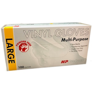 HP Products L Size 5 mil Poly Flo Vinyl Disposable Glove H10671