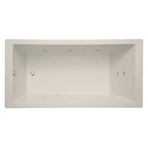 Signature Hardware Sitka 72 x 36 in. Whirlpool Drop-In Bathtub with End Drain in Biscuit MIRSKT7236BS