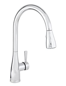 Mirabelle® Calverton 1.8 gpm 1 or 3 Hole Deck Mount Kitchen Faucet with Single Lever Handle in Polished Chrome MIRXCCA100CP