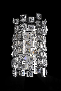 Kalco Lighting Dolo 60W 2-Light Candelabra E-12 Incandescent Wall Bracket in Polished Chrome A028921010FR001