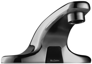 Sloan Valve Optima® 2-Hole 0.5 gpm Deck Mount Battery-powered Lavatory Faucet in Polished Chrome S3315025BT