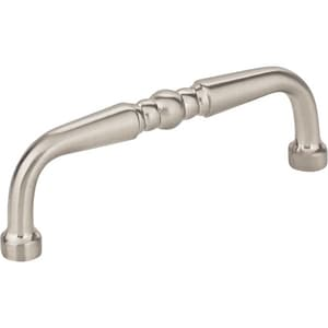Hardware Resources Madison 3-3/8 in. 3-Hole Turn Cabinet Pull with 2-Screw in Satin Nickel HZ2593SN