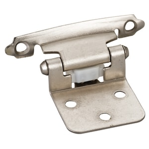 Hardware Resources Flush Hinge with Screw and Pad in Satin Nickel HP5011