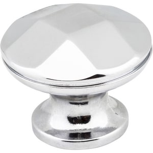 Hardware Resources Drake 1-1/4 in. Cabinet Knob with Screw in Polished Chrome H423PC
