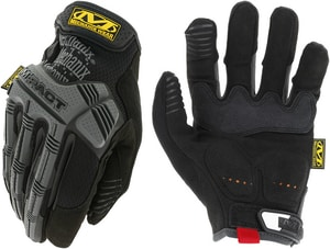 Mechanix Wear M-Pact® Small Synthetic Leather Rubber Gloves in Black with Grey MMPT58008