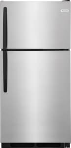 Frigidaire 14.6 cf Top Freezer Refrigerator in Stainless Steel FFFHT1514QS