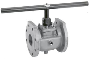 Figure 067 4 in. Stainless Steel 150 psi Flanged Gear with Locking Device Plug Valve X06744P1GZP