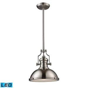 Elk Lighting Chadwick 60W 1-Light Pendant in Satin Nickel E661241LED