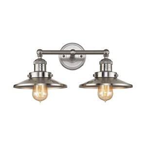 ELK Lighting English Pub 2-Light Vanity Fixture in Satin Nickel E671712
