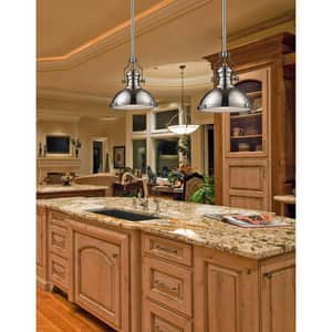 Elk Lighting Chadwick 14 in. 1-Light Pendant in Satin Nickel E661241
