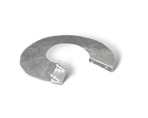 Lukjan Metal Products 4 x 3-1/2 in. Galvanized Steel Starting Collar in Round Duct SHMSTORMCP