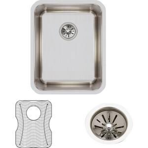 Elkay Gourmet® Single Bowl Undermount Bar Sink Kit with Rear Center Drain in Lustrous Highlighted Satin EELUH141810DBG