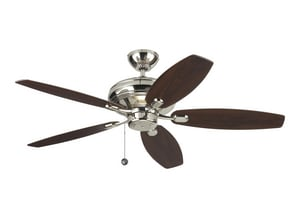 Monte Carlo Fan Company Centro Max 57.3W 5-Blade Ceiling Fan with 52 in. Blade Span in Polished Nickel M5CQM52PN