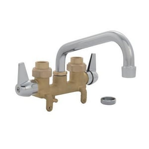 PROFLO® Two Lever Handle Laundry Faucet in Rough Brass PF244A