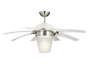 Airlift California Energy Commission Registered Brushed Stainless Steel 44 Ceiling FAN 8 Blade W/HAL M8ATR44BSDL