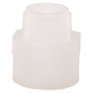 Orion Fittings Standardline® 1/2 in. Male Socket Fusion Straight Standard Polypropylene Adapter in White O745102