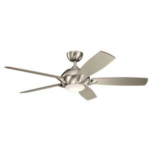 Kichler Lighting Geno 17W 5-Blade Ceiling Fan with 54 in. Blade Span in Brushed Stainless Steel KK330001BSS