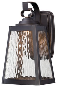 Minka Talera 12-3/4 in. 11W 1-Light Outdoor Wall Sconce in Oil Rubbed Bronze and Gold Highlights M73102143CL