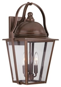 Minka Riverdale Court 10-1/2 in. 60 W 3-Light Candelabra Lantern in Architectural Bronze M72302291