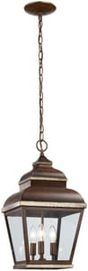 Mossoro™ 3-Light Chain Hung in Mossoro Walnut with Silver Highlights M8264161
