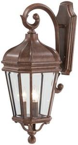 Minka Harrison™ 10 in. 60 W 3-Light Candelabra Lantern in Vintage Rust M869261