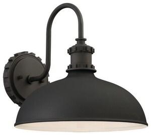 Minka Escudilla 100W 1-Light Medium E-26 Incandescent Outdoor Wall Sconce in Black M7125166