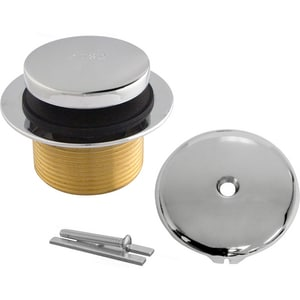Lincoln Products® Tub Drain Kit with Coarse Thread Bushing Polished Chrome LIN102098