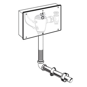 American Standard Selectronic® 11 in. 1.6 gpf Sensor Operated Concealed Toilet Flush Valve with Wall Box for Floor Mount and Back Spud Bowl A606B361007
