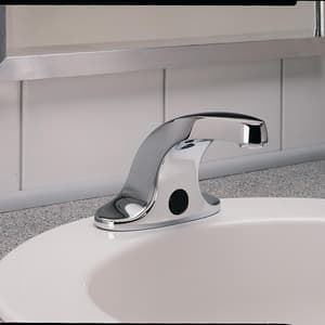 American Standard Innsbrook Selectronic® No Handle Centerset and Sensor Bathroom Sink Faucet in Polished Chrome A6055205002