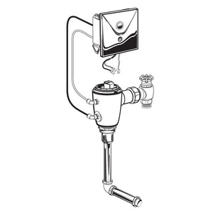 American Standard Selectronic® 6-1/4 in. 1 gpf Sensor Operated Concealed Urinal Flush Valve A606B310007