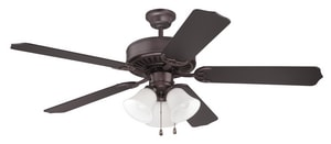 Craftmade International Pro Builder 205 52 in. Ceiling Fan with Light in Oiled Bronze CC205OB