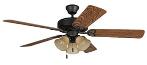 Craftmade International Builder Deluxe 52 in. Ceiling Fan with 1-Light Kit in Aged Bronze Brushed CBLD52ABZ5C3