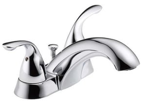 Delta Faucet Classic Two Handle Centerset Bathroom Sink Faucet in Polished Chrome D2523LFMPU