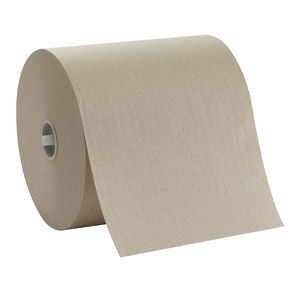 Sofpull® Non-Perforated Hard Roll Towel in Brown (Case of 12) G26480