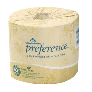 Georgia-Pacific Preference® 4-1/2 in. 2-Ply Bathroom Tissue in White (Case of 80) G1828001