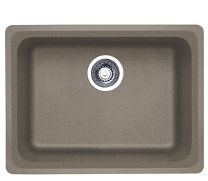 Blanco America Vision™ 24 x 18 in. No Hole Composite Single Bowl Undermount Kitchen Sink in Truffle B441370