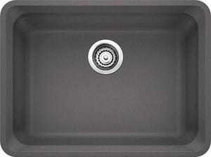 Blanco America Vision™ 24 x 18 in. No Hole Composite Single Bowl Undermount Kitchen Sink in Cinder B441472