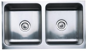 Blanco America Magnum™ 2-Bowl Undermount Kitchen Sink with Apron in Stainless Steel B440286