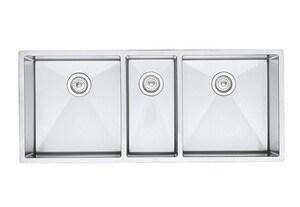 Blanco America Precision™ 3-Bowl Kitchen Sink in Polished ...