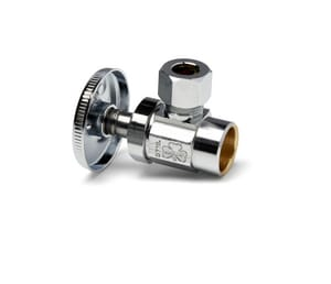 McGuire Manufacturing 1/2 in x 3/8 in Wheel Handle Angle Supply Stop Valve in Polished Chrome MLFST07