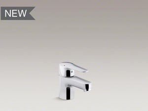Kohler July™ Single Handle Monoblock Bathroom Sink Faucet in Polished Chrome K16027-4-CP