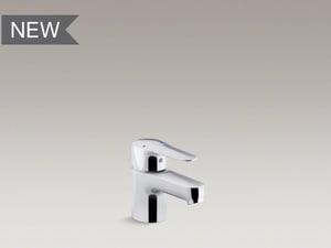 Kohler July™ Single Handle Monoblock Bathroom Sink Faucet in Polished Chrome K16027-4