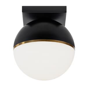 Tech Lighting Wall 7 in. 14W 1-Light Flush Mount Ceiling Fixture in Matte Black T700FMAKVBRLED927