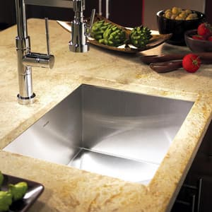 Houzer Contempo Series 18 ga 1-Bowl Undermount 304 Stainless Steel Kitchen Sink in Brushed Satin (Less Hole) HCTS2300