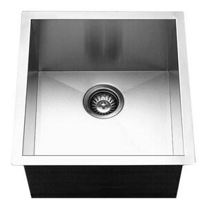 Houzer Contempo Series 1-Bowl Undermount Prep Kitchen Sink in Stainless Steel HCTR1700