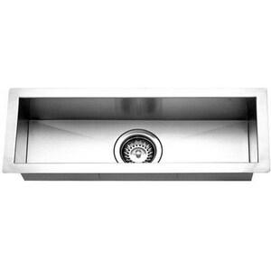 Houzer Contempo Series Undermount Rectangular Bar Sink in Brushed Satin HCTB2385