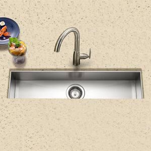 Houzer Contempo Series 18 ga 1-Bowl Undermount Bar Sink in Stainless Steel HCTB3285