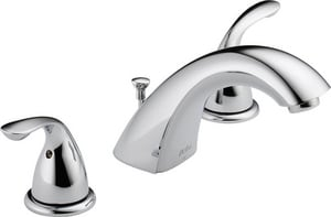 Delta Faucet Classic Series Two Handle Widespread Bathroom Sink Faucet in Polished Chrome D3530LFMPU