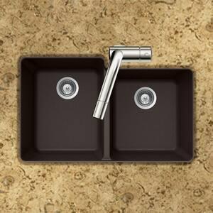 Houzer Quartztone® 2-Bowl Undermount Composite Kitchen Sink in Mocha HM175UMOCHA